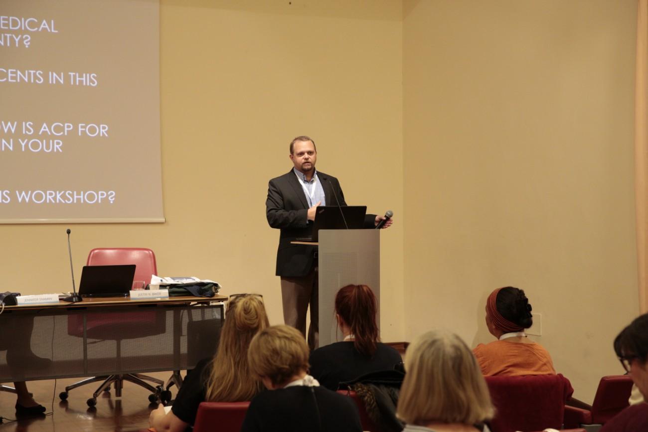 _Justin Baker day one pre-congress workshop